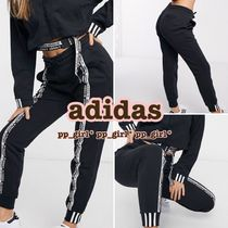 adidas Casual Style Sweat Blended Fabrics Street Style Plain Cotton