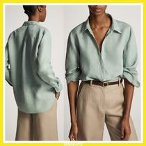 Massimo Dutti Linen Icy Color Shirts & Blouses
