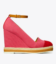Tory Burch Platform Round Toe Casual Style Bi-color Plain Party Style