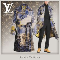Louis Vuitton Street Style Long Oversized Bridal Trench Coats