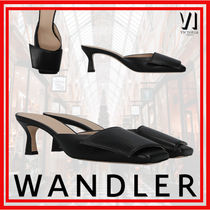 WANDLER Casual Style Plain Office Style Elegant Style Heeled Sandals