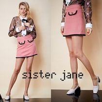 Sister Jane Short Tweed With Jewels Mini Skirts