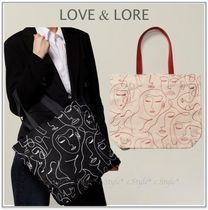 LOVE & LORE Casual Style Faux Fur A4 Office Style Elegant Style Totes