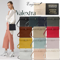 Valextra Brera Casual Style Calfskin 2WAY Plain Leather Party Style
