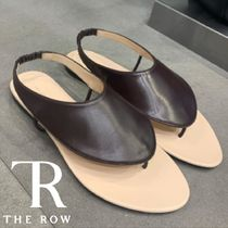 The Row Casual Style Street Style Plain Leather Flip Flops