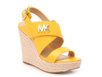 Michael Kors Open Toe Platform Casual Style Plain Leather Party Style