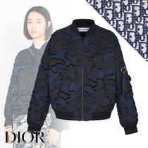 Christian Dior Camouflage Casual Style Medium MA-1 Bomber Jackets