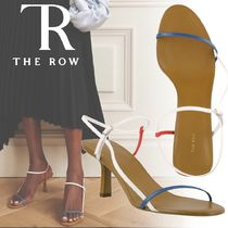 The Row Casual Style Plain Leather Pin Heels Party Style