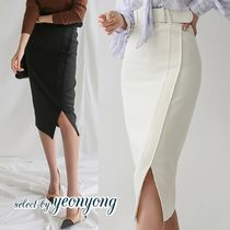 Pencil Skirts Casual Style Plain Medium Office Style