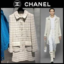 CHANEL ICON Other Plaid Patterns Casual Style Tweed Plain Medium