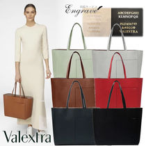 Valextra Casual Style Calfskin 3WAY Plain Leather Office Style