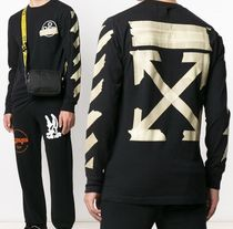 Off-White Street Style Long Sleeves Cotton Long Sleeve T-shirt