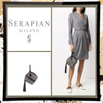 SERAPIAN Casual Style Tassel 2WAY 3WAY Plain Leather Party Style