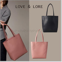 LOVE & LORE Casual Style Faux Fur A4 Plain Office Style Elegant Style