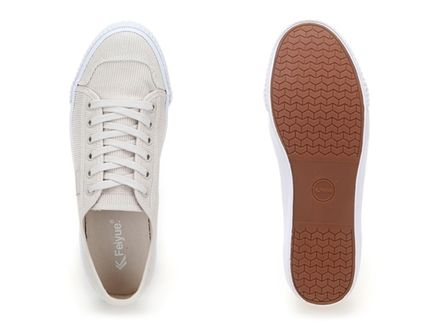 Feiyue Low-Top Rubber Sole Casual Style Unisex Blended Fabrics Studded 3