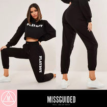 Missguided Casual Style Unisex Sweat Street Style Collaboration Plain