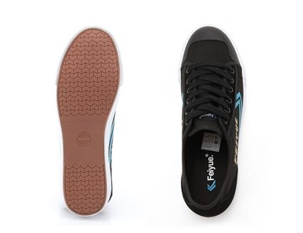 Feiyue Low-Top Rubber Sole Casual Style Unisex Blended Fabrics Studded 2