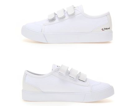 Feiyue Low-Top Rubber Sole Casual Style Unisex Blended Fabrics Studded