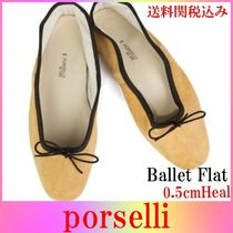 PORSELLI Suede Leather Ballet Shoes