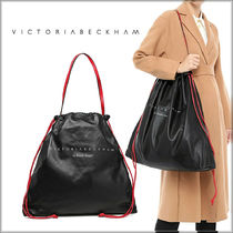 Victoria Beckham Casual Style Lambskin A4 Purses Bucket Bags