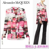 alexander mcqueen Flower Patterns Casual Style Silk Long Sleeves Medium