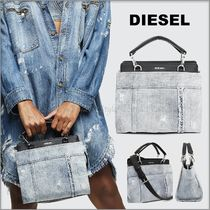 DIESEL Casual Style Denim 2WAY Logo Bags
