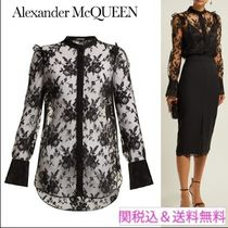alexander mcqueen Casual Style Long Sleeves Medium Lace Elegant Style