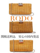 RODO 2WAY Plain Crossbody Logo Clutches