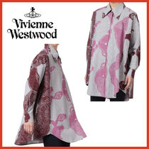 Vivienne Westwood Stripes Other Check Patterns Casual Style Long Sleeves