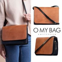 O MY BAG Casual Style 2WAY Plain Leather Elegant Style Shoulder Bags