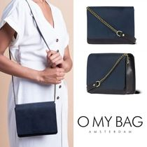 O MY BAG Casual Style Plain Leather Elegant Style Shoulder Bags