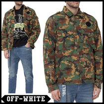 Off-White Camouflage Street Style Long Sleeves Cotton Shirts