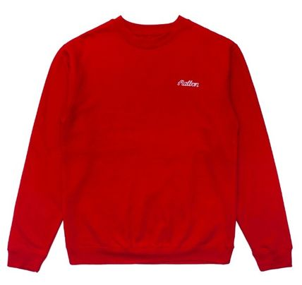 Crew Neck Long Sleeves Logo Sweatshirts