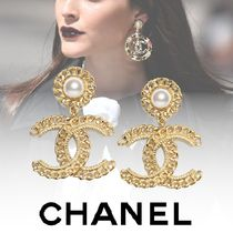 CHANEL Party Style Elegant Style Bridal Earrings