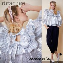Sister Jane Casual Style Puffed Sleeves Cropped Party Style