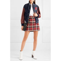 MiuMiu Short Casual Style Nylon Street Style Medium Nylon Jacket