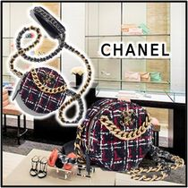 CHANEL 2020 SS CHAIN WALLET navyblue more wallets & card holders
