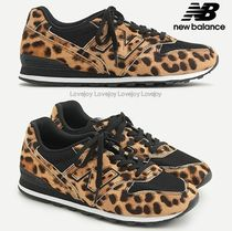 New Balance 996 Leopard Patterns Round Toe Rubber Sole Lace-up Casual Style