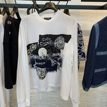 CHANEL Crew Neck Unisex Street Style Collaboration Long Sleeves
