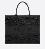 Christian Dior Camouflage Unisex Canvas Street Style A4 Fringes Logo