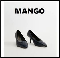 MANGO Python High Heel Pumps & Mules