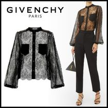 GIVENCHY Flower Patterns Casual Style Nylon Puffed Sleeves