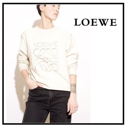 Crew Neck Long Sleeves Plain Cotton Medium Logo