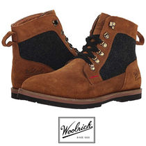 WOOLRICH Suede Street Style Plain Boots