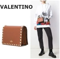VALENTINO Studded Chain Crossbody Logo Shoulder Bags