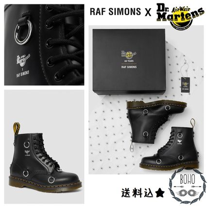 Collaboration Leather Logo Military Boots