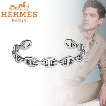 HERMES Chaine dAncre Street Style Silver Bracelets