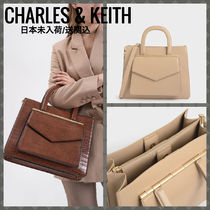 Charles&Keith Casual Style Faux Fur A4 Party Style Office Style