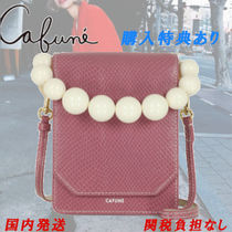 CAFUNE Leather Elegant Style Shoulder Bags