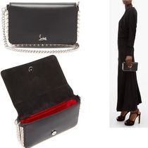 Christian Louboutin Casual Style Studded 3WAY Chain Leather Elegant Style